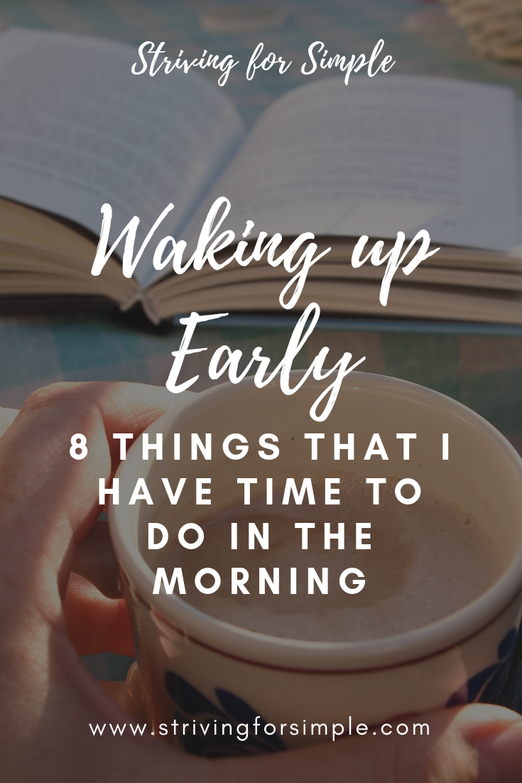 waking up early pinterest graphic and blog title image