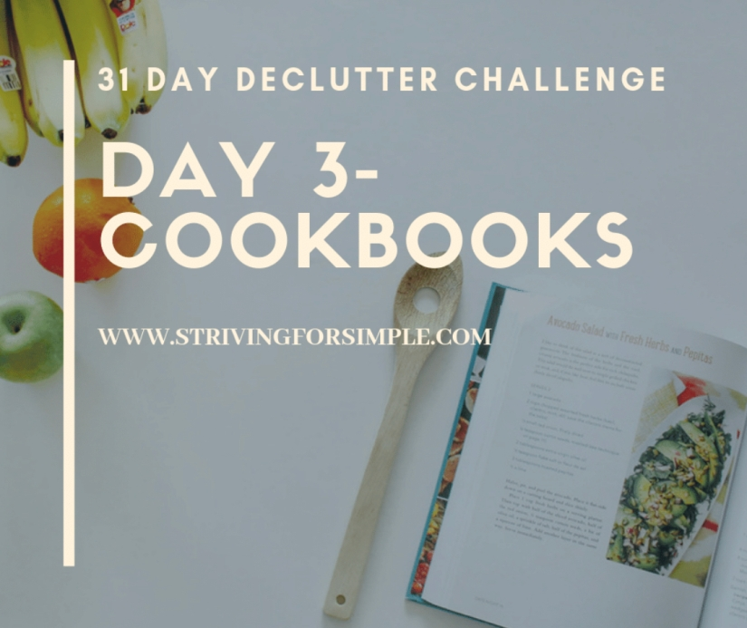 decluttering title image for cookbooks