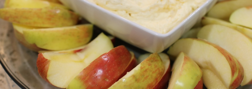 Greek Yogurt Fruit Dip with Apples
