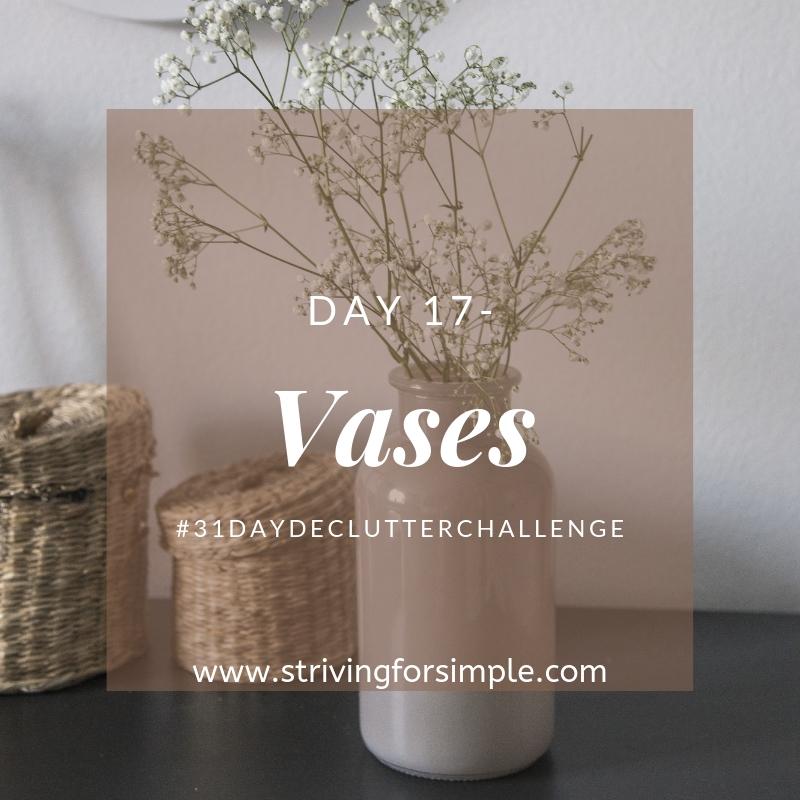 title image for decluttering vases