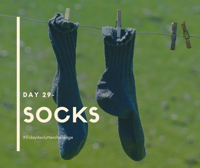 socks hanging on line